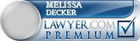 Melissa Lynn Decker  Lawyer Badge