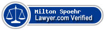 Milton E. Spoehr  Lawyer Badge