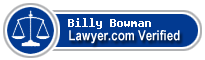 Billy Burton Bowman  Lawyer Badge