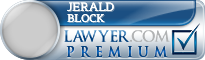 Jerald P Block  Lawyer Badge