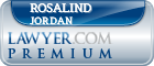 Rosalind Hayden Jordan  Lawyer Badge