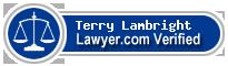 Terry Wayne Lambright  Lawyer Badge