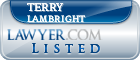Terry Lambright Lawyer Badge
