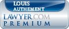 Louis G Authement  Lawyer Badge