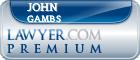 John Richard Gambs  Lawyer Badge