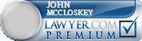 John V. Mccloskey  Lawyer Badge