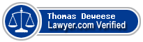 Thomas Lenpha Deweese  Lawyer Badge