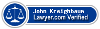 John Jay Kreighbaum  Lawyer Badge