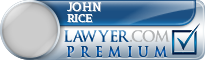 John Lawrence Rice  Lawyer Badge