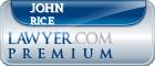 John Lawrence Rice  Lawyer Badge