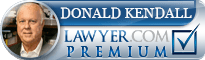 Donald Bascom Kendall  Lawyer Badge
