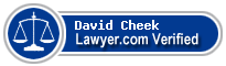 David Alan Cheek  Lawyer Badge