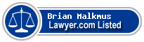 Brian Malkmus Lawyer Badge