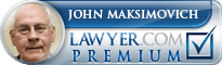 John Maksimovich  Lawyer Badge