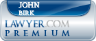 John Elmer Birk  Lawyer Badge