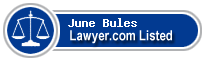 June Bules Lawyer Badge