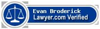 Evan Buck Broderick  Lawyer Badge