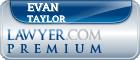 Evan Andrew Taylor  Lawyer Badge