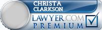 Christa Clarkson  Lawyer Badge