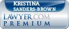Kristina Marie Sanders-Brown  Lawyer Badge
