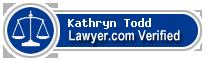 Kathryn Kaeble Todd  Lawyer Badge