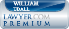 William A Udall  Lawyer Badge