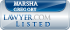 Marsha Gregory Lawyer Badge
