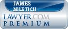 James M. Miletich  Lawyer Badge