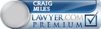 Craig Miles  Lawyer Badge