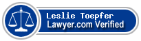 Leslie Gartrell Toepfer  Lawyer Badge