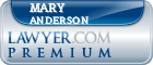 Mary Sue Anderson  Lawyer Badge
