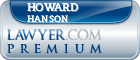 Howard E. Hanson  Lawyer Badge