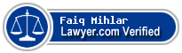 Faiq M. Mihlar  Lawyer Badge