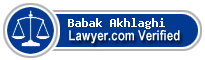 Babak Randle Akhlaghi  Lawyer Badge