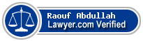 Raouf Muhammad Abdullah  Lawyer Badge