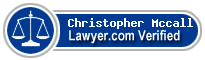 Christopher Scott Mccall  Lawyer Badge