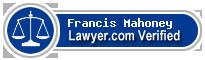 Francis S. Mahoney  Lawyer Badge
