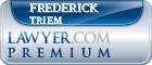 Frederick W. Triem  Lawyer Badge