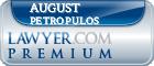 August J Petropulos  Lawyer Badge