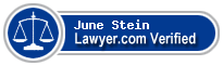 June Stein  Lawyer Badge