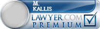M. Jeffery Kallis  Lawyer Badge