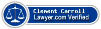 Clement J. Carroll  Lawyer Badge