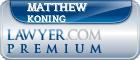 Matthew Charles Koning  Lawyer Badge