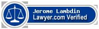 Jerome T Lambdin  Lawyer Badge