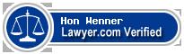 Hon William W Wenner  Lawyer Badge