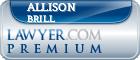 Allison Lane Brill  Lawyer Badge