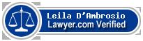 Leila D'Ambrosio  Lawyer Badge