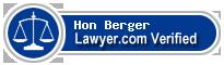 Hon Stuart Ross Berger  Lawyer Badge