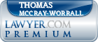 Thomas Macy McCray-Worrall  Lawyer Badge