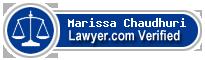 Marissa J. Chaudhuri  Lawyer Badge